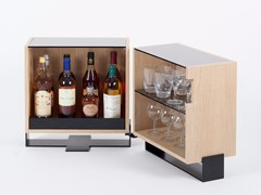 Tavolino / mobile bar in multistratoMAYET   Mobile bar - ALEX DE ROUVRAY DESIGN