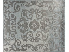- Handmade rectangular custom rug MAZARIN ARTY CELADON - EDITION BOUGAINVILLE