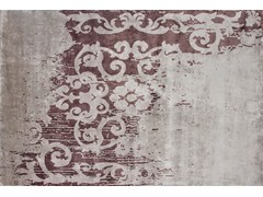 - Handmade rectangular rug MAZARIN ARTY PLUM - EDITION BOUGAINVILLE