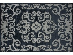 - Handmade rectangular custom rug MAZARIN GRAPHITE - EDITION BOUGAINVILLE