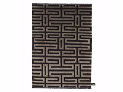 - Rectangular rug with geometric shapes MAZE SOIE - cc-tapis ®