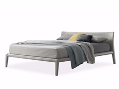 - Lacquered polyurethane double bed MEMO 2 | Lacquered bed - Poliform