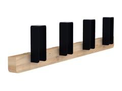 - Wall-mounted oak and metal coat rack MERLIN | Wall-mounted coat rack - Universo Positivo