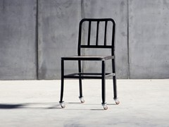 - Metal chair with casters METAL CHAIR | Chair with casters - Heerenhuis