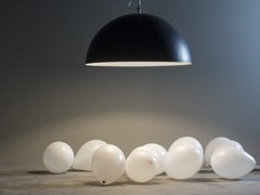 - Resin pendant lamp MEZZA LUNA 1 LAVAGNA - In-es.artdesign