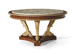 - Classic style round rosewood table MG 1023 - OAK Industria Arredamenti