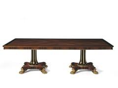 - Rectangular rosewood table MG 1123 - OAK Industria Arredamenti