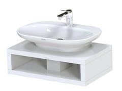 - Single English oak washbasin countertop MH | Single washbasin countertop - TOTO