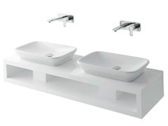 - Double wooden washbasin countertop MH | Double washbasin countertop - TOTO