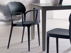 - Stackable technopolymer chair with armrests MIA | Chair with armrests - Ozzio Italia