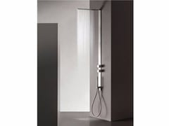 - Wall-mounted stainless steel shower panel MILANOSLIM | Shower panel - Fantini Rubinetti