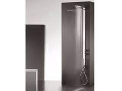 - Wall-mounted thermostatic stainless steel shower panel with overhead shower MILANOSLIM WATERFALL - Fantini Rubinetti