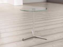 - Round glass bistro side table MIYC-MIOC - Systemtronic