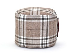 - Upholstered fabric pouf MINI HOME - Pusku pusku