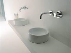- Countertop ceramic handrinse basin round MINI TWIN | Countertop handrinse basin - CERAMICA FLAMINIA
