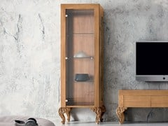 - Wood and glass display cabinet MINIMAL BAROQUE | Display cabinet - Modenese Gastone group
