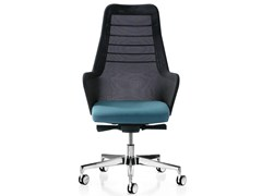 - Height-adjustable fabric executive chair with 5-spoke base MISS MESH | Executive chair - Quinti Sedute