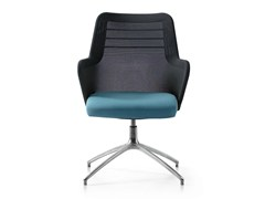 - Height-adjustable swivel fabric task chair with armrests MISS MESH | Task chair with 4-Spoke base - Quinti Sedute