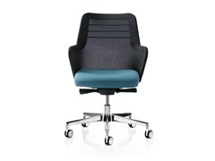 - Height-adjustable fabric task chair with 5-Spoke base with armrests MISS MESH | Task chair with 5-Spoke base - Quinti Sedute