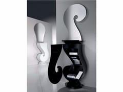 - Free standing lacquered wooden hallway unit PUNTO INTERROGATIVO | Lacquered hallway unit - Carpanelli Contemporary