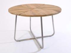 - Round teak garden table MODENA | Round table - FISCHER MÖBEL