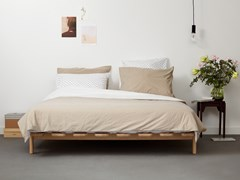 Letto matrimoniale in faggioMODEST - TYPE 2 - LOOF