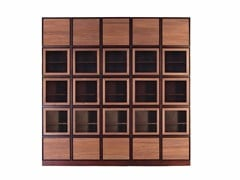 - Sectional custom cherry wood bookcase with drawers MODULO ZERO | Cherry wood bookcase - Morelato