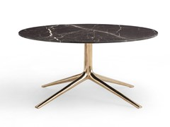 - Low round marble coffee table COSMOS | Round coffee table - Poliform