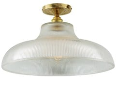 - LED brass ceiling lamp MONO INDUSTRIAL 38CM RAILWAY FLUSH - Mullan Lighting
