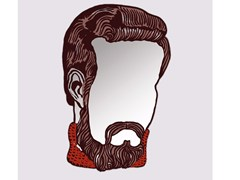 - Wall-mounted mirror MONSIEUR - Moustache