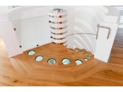 Scala a chiocciola in legno e vetroMONTE BIANCO - ANTICO TRENTINO DI LUCIO SEPPI