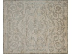 - Handmade rectangular custom rug MONTESPAN PLATINE - EDITION BOUGAINVILLE