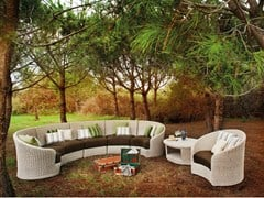 - Sectional upholstered garden sofa MOON | Sectional sofa - Atmosphera