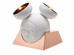 Lampada da tavolo in ceramica e rameMUSA - BYFLY