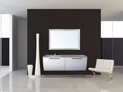 - Lacquered wall-mounted vanity unit with drawers MYKONOS CM05MY - LA BUSSOLA