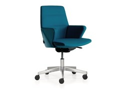 - Leather task chair with 5-Spoke base with armrests with casters HYWAY | Task chair - Quinti Sedute