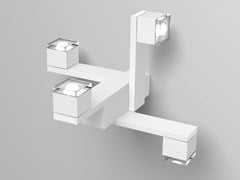 - LED direct-indirect light aluminium wall light Medusa - PURALUCE