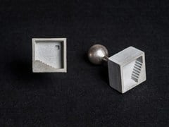 - Gemelli in calcestruzzo Micro Concrete Cufflinks #3 - Material Immaterial studio