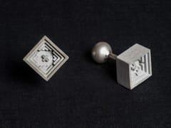 - Gemelli in calcestruzzo Micro Concrete Cufflinks #5 - Material Immaterial studio