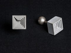 - Gemelli in calcestruzzo Micro Concrete Cufflinks #6 - Material Immaterial studio