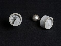 - Gemelli in calcestruzzo Micro Concrete Cufflinks #7 - Material Immaterial studio
