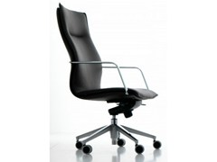 - High-back leather executive chair with 5-spoke base with armrests MAYBE | Executive chair - Quinti Sedute