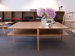 - Square wooden coffee table NÍVEL | Square coffee table - Branca-Lisboa