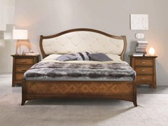 - Double bed with upholstered headboard NAIMA | Bed with tufted headboard - Arvestyle