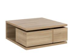 Tavolino da caffè con 2 cassettiNATURA | Tavolino con vano contenitore - GAUTIER FRANCE