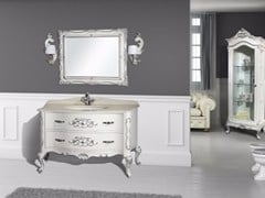 - Lacquered vanity unit with drawers with mirror NAXOS CM25DC - LA BUSSOLA