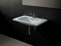- Rectangular ceramic washbasin NEAT CONSOLLE 75 - Alice Ceramica