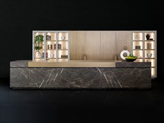 - Natural stone kitchen with island NEOLITE - TM Italia Cucine