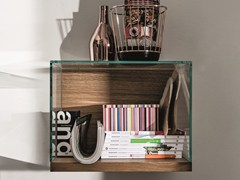 - Wall-mounted wood and glass retail display case NEST WALL VERSION | Retail display case - SOVET ITALIA