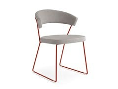 - Sled base upholstered fabric chair NEW YORK | Sled base chair - Calligaris